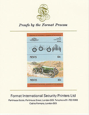 Nevis (2084) - 1985 Cars - Sunbeam Coupe  imperf on Format Int PROOF  CARD