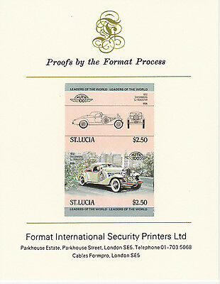 St Lucia (2090) - 1984 Cars #1 Duesenberg imperf on Format Int PROOF  CARD