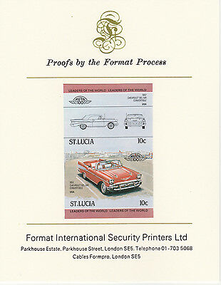 St Lucia (2091) - 1984 Cars #1 Chevrolet  imperf on Format Int PROOF  CARD