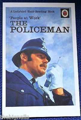 Ladybird Book Cover Postcard THE POLICEMAN People at Work series new
