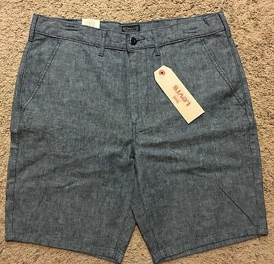 NWT Men Levis Chino Straight Light Blue Shorts Size 31 MSRP $50