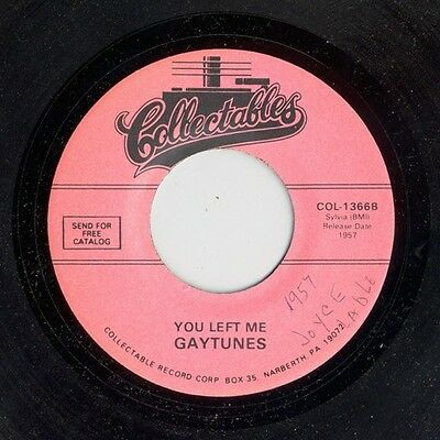 The Gaytunes I Love You / You Left Me Vinyl Single 7inch Collectables