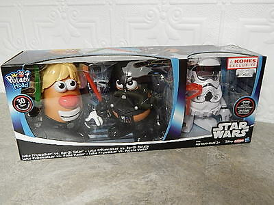 NEW Star Wars Mr. Potato Head Darth Tater & Luke Frywalker Disney Playskool 30p