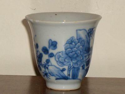 A Chinese Blue & White Porcelain Coffee Cup, 18Th Century