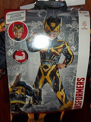 Transformers Bumblebee Halloween Costume, Muscles,Muscles,Mucles Child  3T-4T