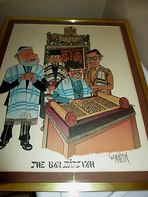 """Lee Martin Signed Lithograph Print """"the Bar Mitzvah"""" #359/500"""