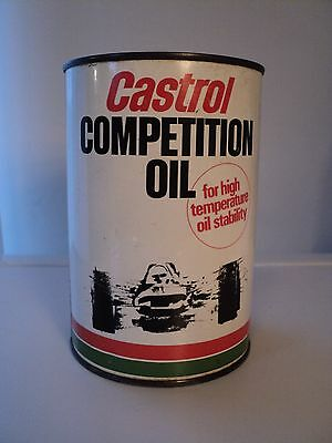 CASTROL COMPETITION MOTOR OIL CAN TIN C empty