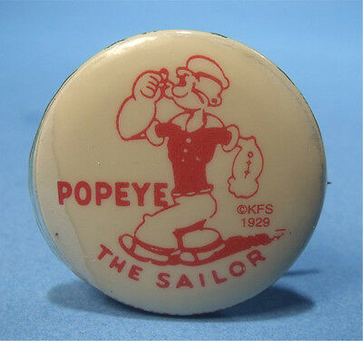 POPEYE THE SAILOR Antique 1929 CHARACTER PREMIUM CELLULOID Button PIN PINBACK NR