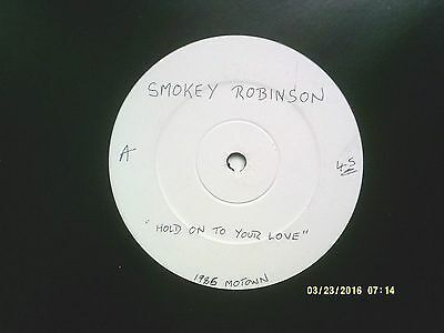 """Smokey Robinson Hold On To Your Love 12"""" Promo Single 1986 N/mint"""