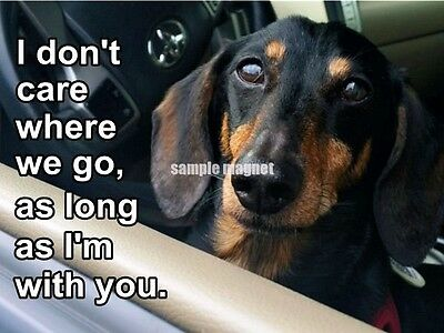 "Dachshund Refrigerator Magnet 4"" x 3""  As Long As I'm With You"