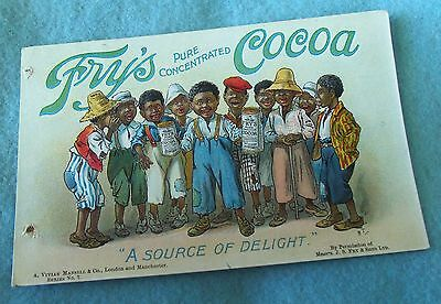 Rare Fry's Cocoa Advertising Post Card....black Americana