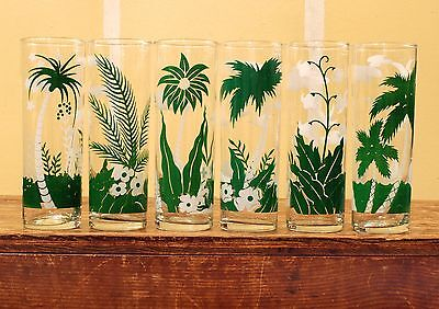 6 Vtg LIBBEY Summer BEACH Tumblers DRINKING GLASSES Caribbean HAWAII Sail Boats