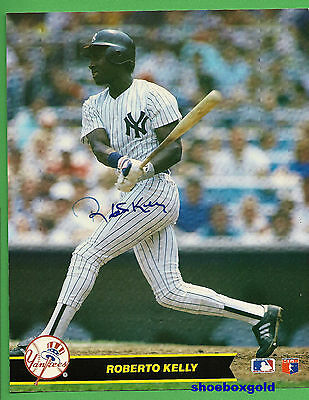 ROBERTO KELLY,  Signed 8X10 Photo,  NEW YORK YANKEES