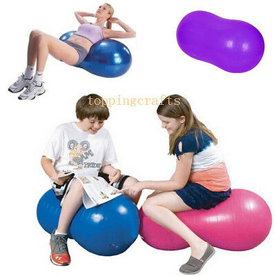 Anti Burst Yoga Swiss Peanut Ball GYM Exercise Fitness with Pump For Relax &Calm