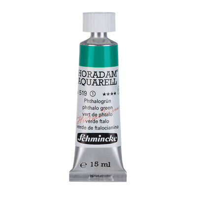 (48,40€/100ml) Schmincke 15ml HORADAM Aquarell Phthalogruen Aquarell  14 519 006