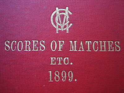 """MCC Cricket Club Matches for the 1899 Season 1899 TRUMPER""""S first Tour Scores ++"""