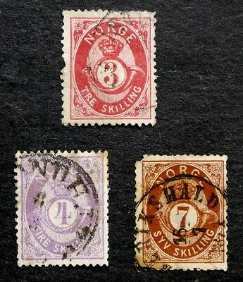 Norway: 1872-3 Classic Era Stamp Collection Of Better Cv $130.00
