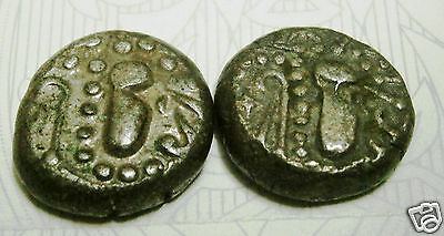 Rare Silver Drachm Of Silharas Horse-Rider Battlefield Coin *set Of Two Coins