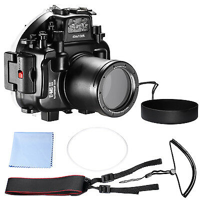 Neewer 130ft Waterproof Underwater Camera Housing Diving Case f Olympus E-M5 II