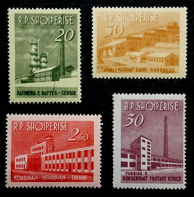 Albania: 1963 Mint Never Hinged Stamp Collection Set Scott #697-700 Cv $21.90