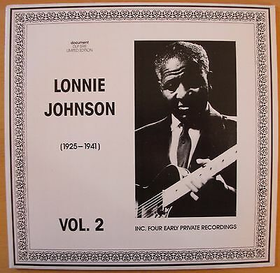 Lonnie Johnson - Vol. 2 (1925 - 1941; incl. 4 early private recordings)  LP