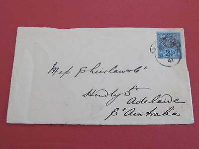 1897 Perfin Stamp on Cover Front WM & Co To South Australia
