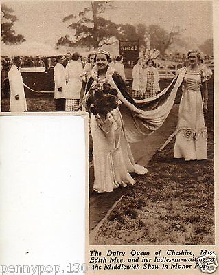 1936* Middlewich Show, Manor Park, Cheshire * Miss Edith Mee, Dairy Queen