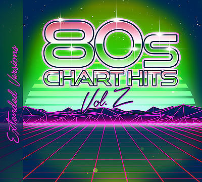 CD 80s Chart Hits Extended Versions Vol.2 von Various Artists  2CDs