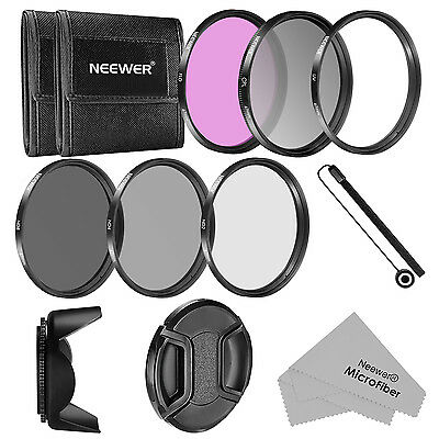 Neewer Kit Filtri 67MM & Accessori per CANON: Filtri UV/CPL/FLD/ND2/ND4/ND8 ecc.