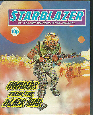 Invaders From The Black Star,no.87,starblazer Space Fiction Adventure Pictures