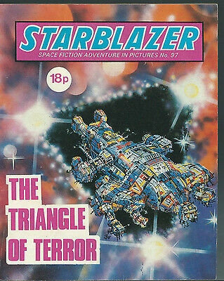 The Triangle Of Terror,no.97,starblazer Space Fiction Adventure In Pictures