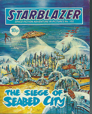 The Siege Of Seabed City,no.102,starblazer Space Fiction Adventure In Pictures