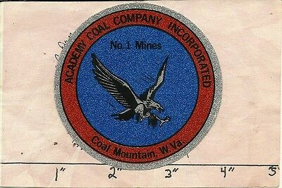 """Academy Coal Company - Hard Hat- Coal Mining Sticker-Decal """"old"""""""