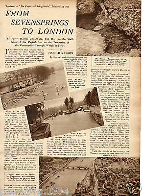 1936* Sevensprings To London * An Interesting Article About The River Thames