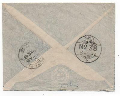 1942 India: Indian Army FPO 38, censor