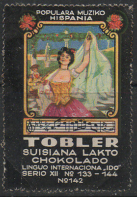 Tobler, Spain, Poster Advertising Stamp (Flamenco Dancer) series XII #142.