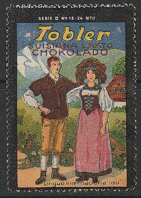 Tobler, Switerland, Poster Advertising Stamp (Alpine Couple) series II #17.