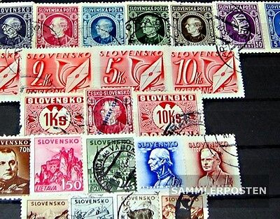 Slovakia 25 different stamps  until 1945