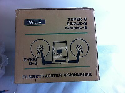 Plusdual E500 film viewer and splicer for 8mm and 16mm ##HIN37JM