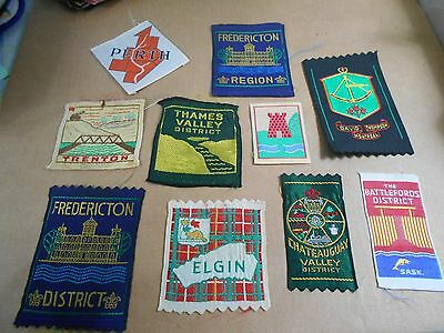 (Sb7-R) Ten Silk Scout Badges Unused  Canadian Scout Badges
