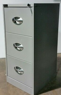 Excalibre FILING 3 DRAWER CABINET OFFICE STATIONERY TOOL STORAGE METAL files