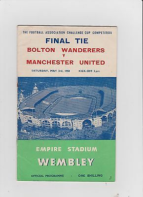 1958 F.A.Cup Final.Bolton Wand.v Manchester United.