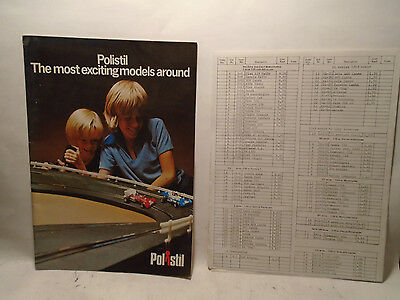 1970's Or 80's Polistil 16 Page Die-Cast & Slot Racing Catalog & Price List