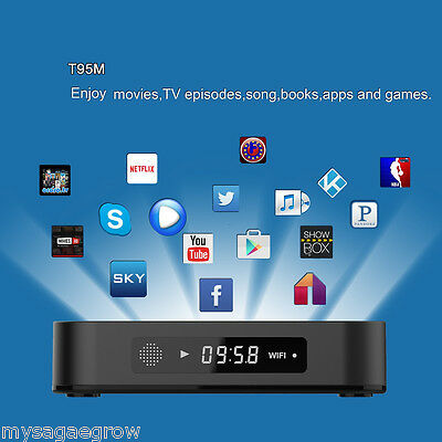 Android6.0 S905X 8GB T95M Smart TV Box QuadCore 4K 3D Dolby WIFI PC Media Player