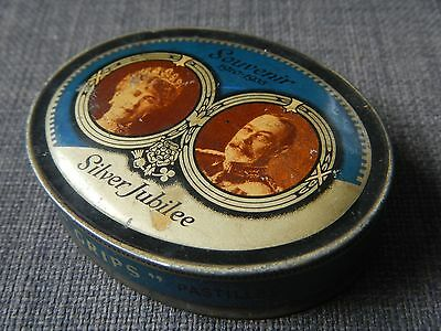 Lightbowns, Accrington Grips Vintage Royal Tin.King George V Silver Jubilee 1935