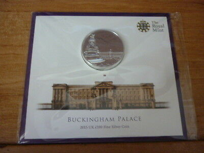 2015 Fine Silver £100 Pound Buckingham Palace Coin