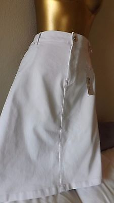 Per Una New With Tags White Denim Skirt With Stretch  Size 20