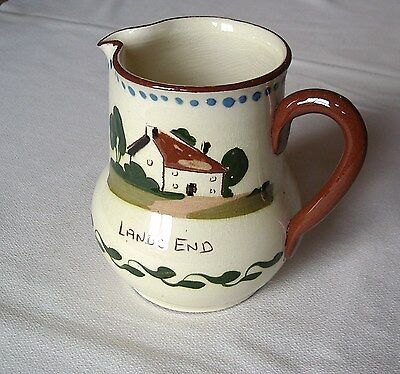 "Vintage Watcombe Torquay Motto Ware Milk Jug--Lands End–""Help Yourself To Milk"""