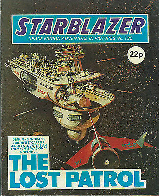 The Lost Patrol,no.135,starblazer Space Fiction Adventure In Pictures,comic