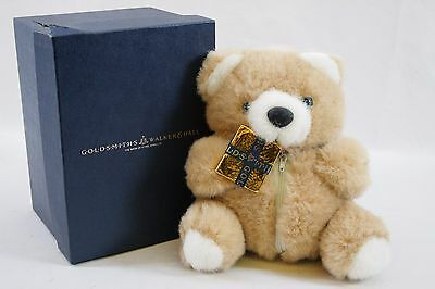 Goldsmiths Walker & Hall Teddy Bear with Zipped Pouch for Jewellery 1995